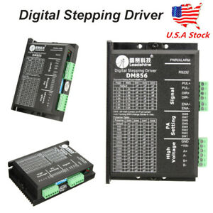 Dm856 Digital Stepping Driver For Leadshine 80vdc 0 5a To 5 6a 2 4 phase Motors