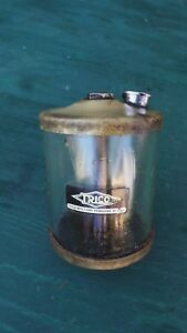 Antique Trico Brass And Glass Oiler Measures 4 1 2 High Stationary Engine