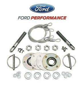 1979 2004 Genuine Ford Racing Frpp Mustang Hood Latch Amp Pin Kit M 16700 A Fits 1995 Mustang