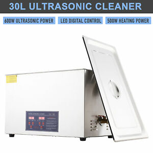 Digital 30l Ultrasonic Jewelry Cleaning Cleaner Machine With Heater Timer