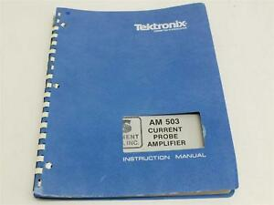 Tektronix Am503 Current Probe Amplifier Instruction Manual