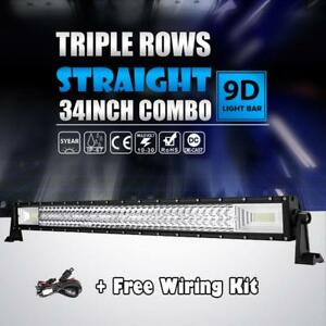 34 inch 1944w Tri Row Curved Led Light Bar Cree Work Offroad 4wd Driving 30 32