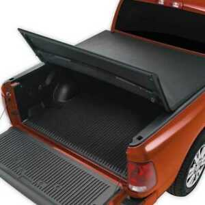 5 5ft Short Bed Soft Tri Fold Tonneau Cover Fits 07 17 Toyota Tundra