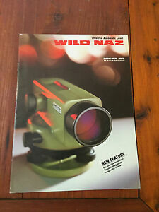 Wild Heerbrugg Na2 Universal Automatic Level Detailed Brochure Surveying