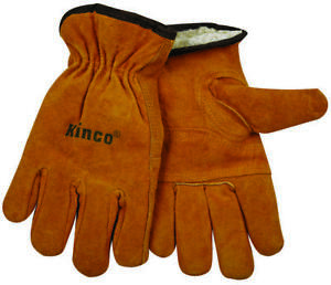 Kinco 51pl Driver Gloves Men s X large Leather Golden Thermal Pile Lining