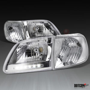 Ford 1997 2003 F150 1997 2002 Expedition Clear Led Head Lights Corner Lamps
