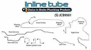 Fits 1995 01 Jeep Cherokee Xj Non Abs Preformed Brake Line Kit Stainless Steel