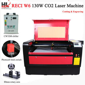 130w Laser Cutter Engraving Machine Cw5200 Chiller 390mm Lift Linear Guide