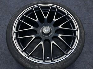 4 Genuine Mercedes Gt s Amg Gt S Black Wheels Tires Rims Oem Factory Forged