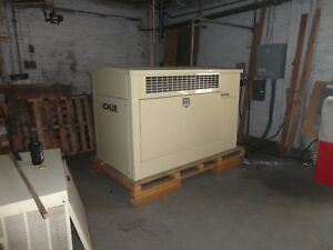 Kohler 30kw Natural Gas Single Phase 120 240 Generator 205 Hrs Transfer Switch