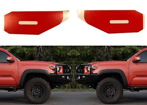 Inferno Orange Vinyl Decals For 2016 2018 Toyota Tacoma Side Marker Lights New