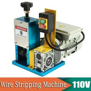 Portable Wire Stripping Machine 1 4hp Automatic Cable Stripper Scrap Recycle New