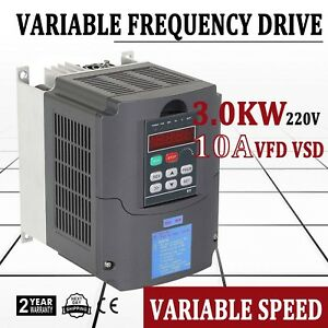 4hp 3kw Variable Frequency Drive Vfd Single Phase Control Capability Inverter Us