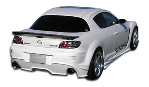04 11 Mazda Rx8 Velocity Duraflex Rear Body Kit Bumper 102301