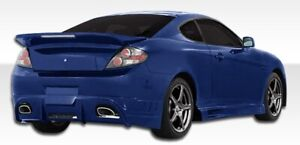 07 08 Fits Hyundai Tiburon Racer Overstock Rear Bumper Lip Body Kit 104363