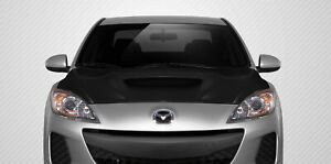 10 13 Mazda Mazda 3 M speed Carbon Fiber Creations Body Kit Hood 108683
