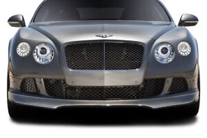 12 15 Bentley Continental Gt Af 1 Aero Function Front Bumper Lip Body Kit 113734