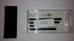 Dater Number Kit For Signature Plates Stamps Printing Etchings Ect