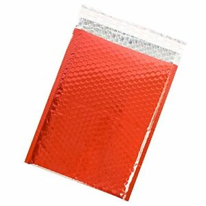 Red Metallic Bubble Mailers 9x12 Pack Of 50