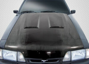87 93 Ford Mustang Heat Extractor Carbon Fiber Creations Body Kit Hood 113114
