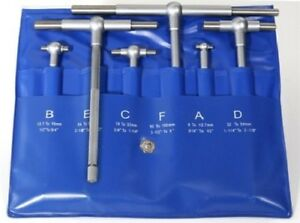6 Pc Precision Telescoping Gage Set 5 16 6 T bore Hole Gauges W Pouch f s