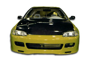 92 95 Honda Civic Spoon Style Duraflex Front Body Kit Bumper 101151