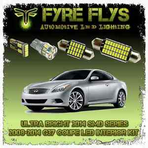 White Led Interior Lights Package Kit For 04 14 G37 Coupe 9 Pcs 3014 Series Smd