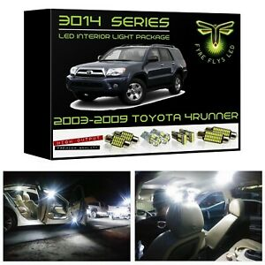 White Led Interior Lights Package Kit For 2003 2009 Toyota 4runner 3014 Series