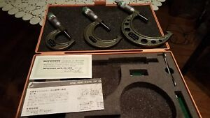 Mitutoyo 0 3 Outside Micrometer Set With Case And Standards must See