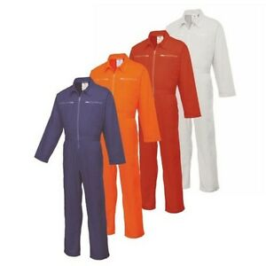 Boilersuit Zip Front Two Rear Patch Pockets Coveralls Overalls Workwear C811