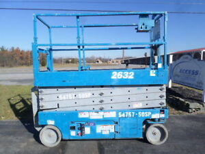 2012 Genie Gs2632 26 Electric Slab Scissor Lift Manlift 26ft Platform Lift