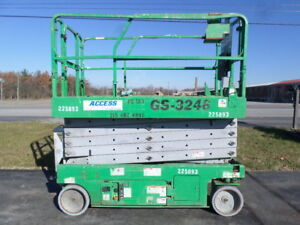 2008 Genie Gs3246 32 Electric Slab Scissor Lift Manlift 32ft Platform Lift