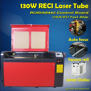 130w 1060 Co2 Usb Laser Engraving Machine Cutter auto Focus ruida Dsp rd wifi