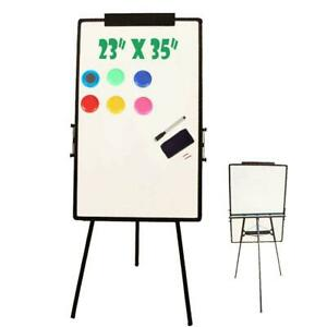 23 x35 Magnetic Writing White Board Single Side Dry Erase W adjust Mobile Stand