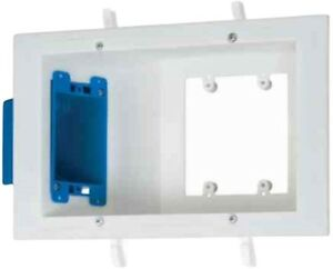 Electrical Plastic Wall Box 3 Gang Flat Panel Old Work White Finish 3 Pack New