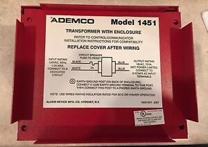 Ademco Honeywell 1451 Fire Alarm Transformer With Enclosure Commercial Use New
