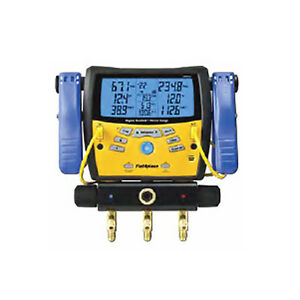 Fieldpiece Sman360 3 port Digital Manifold W Micron Gauge clamps