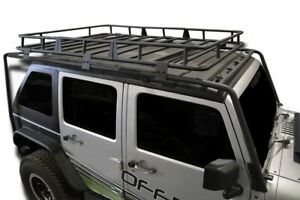 Jeep Jk Roof Rack With Basket Fits Wrangler 07 18 Powdercoated