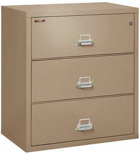 Fire Resistant File Cabinet 3 Drawer Lateral 38 Wide 1 Ea