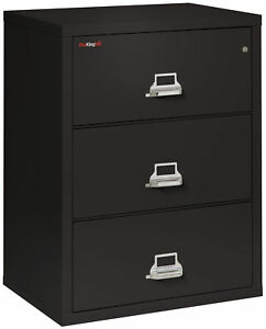 Fire Resistant File Cabinet 3 Drawer Lateral 31 Wide 1 Ea
