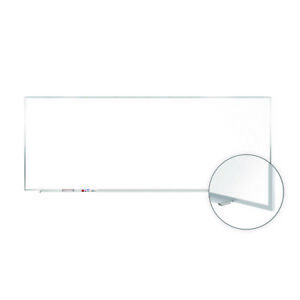 Ghent Magnetic Porcelain Whiteboard With Aluminum Frame 4 h X 12 w 1 Ea