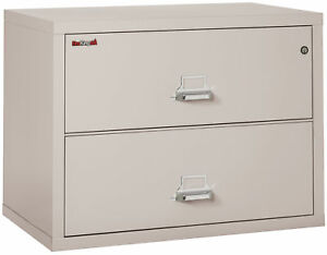 Fire Resistant File Cabinet 2 Drawer Lateral 38 Wide 1 Ea