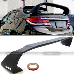 Fits 12 15 Honda Civic 4dr Sedan Unpainted Mugen Style Rr Trunk Wing Spoiler