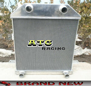 3 Row Aluminum Radiator For 1939 1940 1941 Ford Deluxe Flathead Cc4001fh