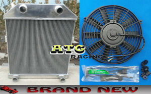 3 Core Aluminum Radiator Fan For 1939 1940 1941 Ford Deluxe Flathead Cc4001fh