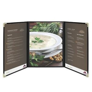 Menu Covers 9 4 X 12 4 Restaurant Triple Stitched Folder Sleeves Order Book
