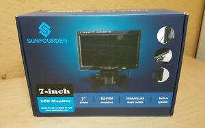 Sunfounder 7 Hd 1024x600 Tft Lcd Screen Display Av vga hdmi Monitor Builtin