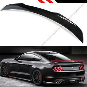 For 2015 19 Ford Mustang S550 H Style Painted Glossy Blk Rear Trunk Spoiler Wing