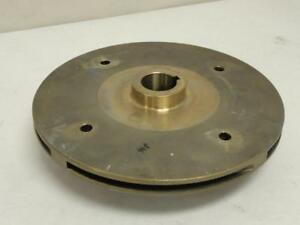 168946 Old stock Goulds 1 225 11200 Bronze Impeller 8 1 2 Od 1 3 16 Id