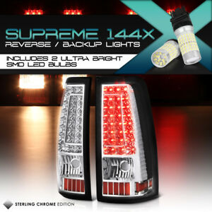 full Smd Reverse 1999 2002 Chevy Silverado 1500 2500 3500 Led Tail Lights Set